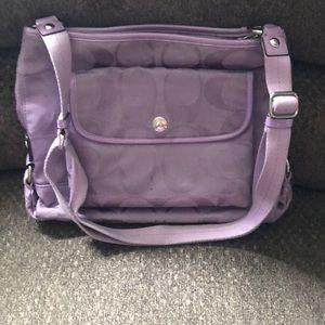 Light purple cross body coach bag